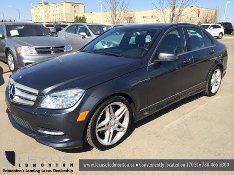 Pre Owned Gray 2011 Mercedes-Benz C-Class C350 4MATIC located in Edmonton,  Alberta