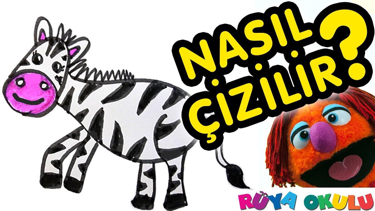 Nasil Cizilir Zebra Cocuklar Icin Resim Cizme Ruya Okulu