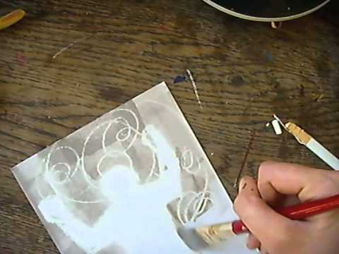 Creative how to use wax crayon drawing with ink wash for Drawing on wax paper