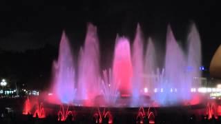 Барселона. Поющие фонтаны.(Удивительное, завораживающее сочетание музыки, воды и света!!! Всё это мы увидели на шоу