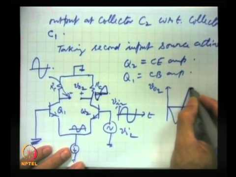 Mod-07 Lec-35 Differential and Operational Amplifier (Contd.) dc and ac analysis