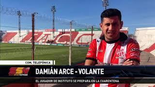 Damián Arce habló en Showsport Noticias sobre cómo lleva adelante la cuarentena obligatoria.