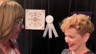 """The Quilt Show: Alex Anderson Talks to Philippa Naylor about her quilt, """"Measure by Measure."""""""