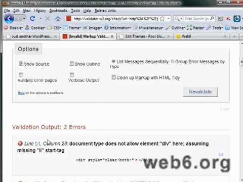 W3C Tutorial on WordPress