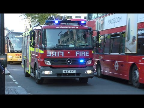 Police Ambulance and London Fire Brigade Responding with Lights and sirens   Collection