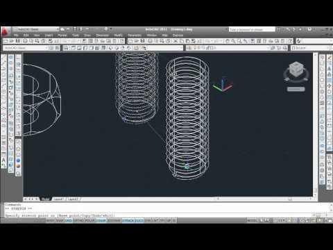 Draw hex nut & thread using Autocad - YouTube
