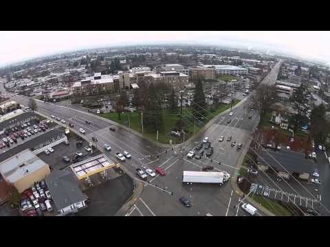 Drone Footage - McAndrews Ave and Crater Lake Avenue in Medford, OR