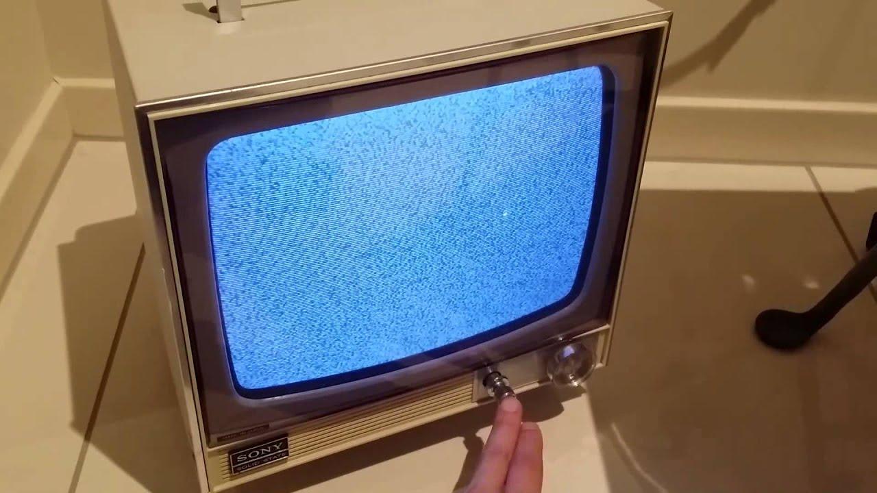 1970s Vintage Sony CRT analog TV TV-110UK monochrome UHF