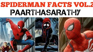 Spiderman intresting facts vol.2 | MARVEL SERIES 6| TAMIL | PAARTHASARATHY| PS
