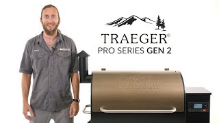 Traeger Gen 2 Pro Series Wood Fired Pellet Grill Overview | BBQGuys.com