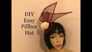 How to make a Pillbox Fascinator Hat, Millinery-easy DIY teardrop hatinator for a wedding or races