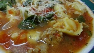 "Rustic ""italian Style"" Tortellini Soup"