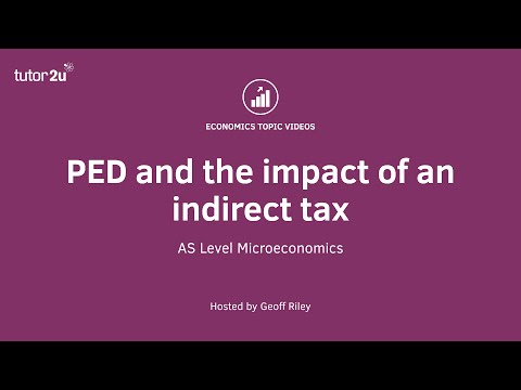 Price Elasticity of Demand and Indirect Taxes
