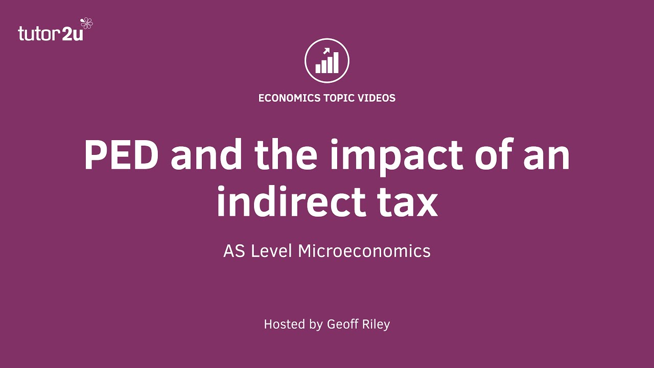 Indirect Taxes (Government Intervention) | Economics | tutor2u