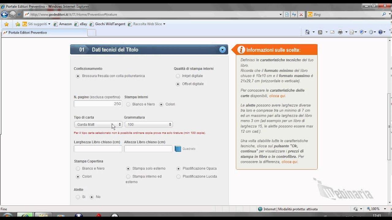 tutorial - come fare un preventivo di stampa - youtube