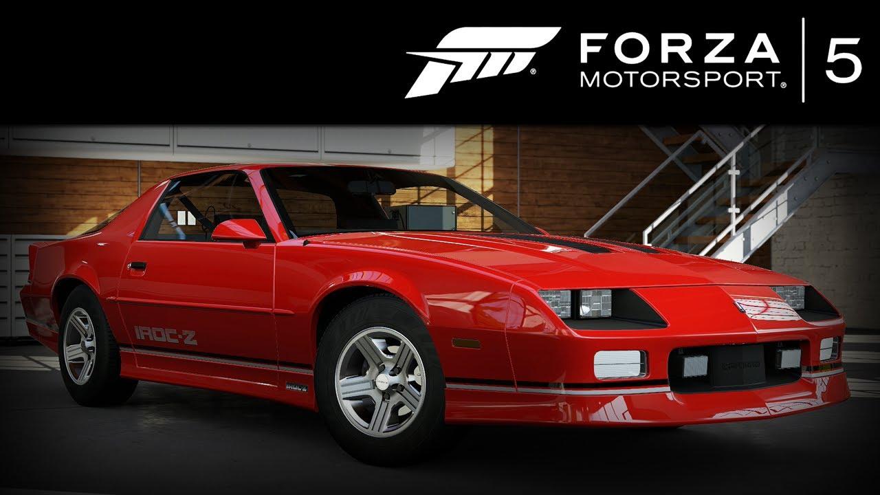 Forza 5 Chevrolet Camaro IROC-Z 1990 Forzavista +1 Lap - YouTube