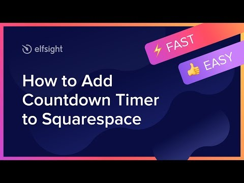 How To Add Countdown Timer To Squarespace (2020)