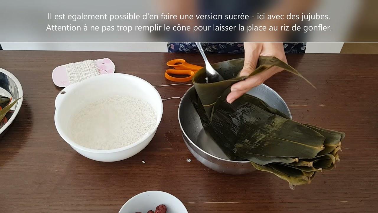 Fête de dragon, comment confectionner les Zongzi, boulettes de riz gluant?