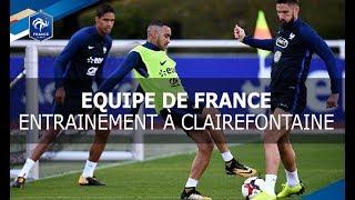 Equipe de France: entraînement des Bleus à Clairefontaine, reportage I FFF 2017