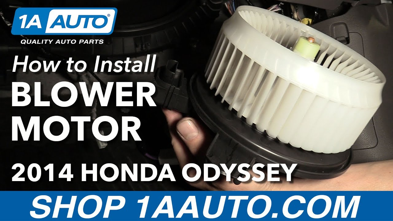 heater blower motor   honda odyssey youtube
