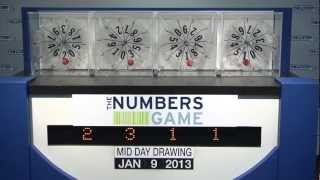Midday Numbers Game Drawing: Wednesday, January 9, 2013