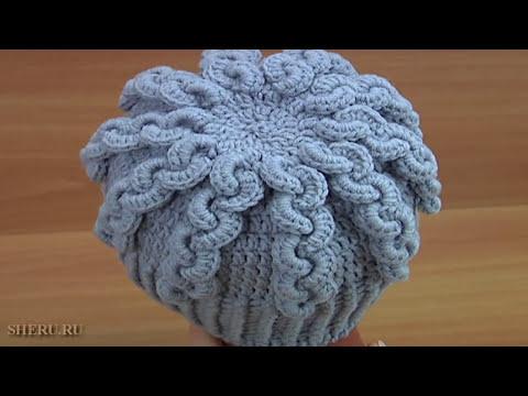 Шапки вязаные женские крючком зимние шапки