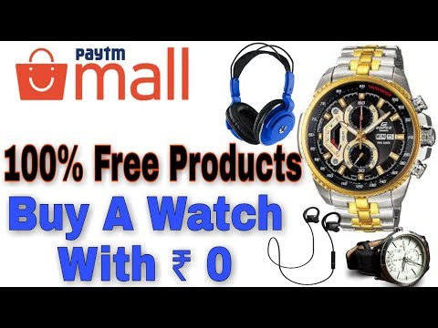 Paytm Mall Cashback Offer 2018,Get Free Watch Per Number,New Promo Code 2018, Free Products