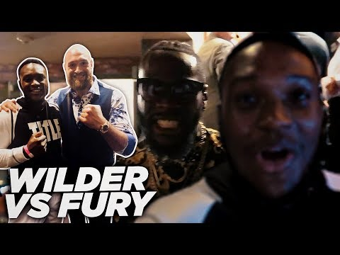 *EXCLUSIVE* MEETING DEONTAY WILDER & TYSON FURY