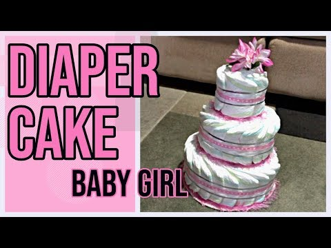 diaper-cake-for-baby-girl---how-to-make-a-diaper-cake