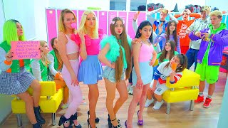 At HIGH SCHOOL | Bunny Beauty Academy! Diana changes LOSERS into PERFECT TEEN GIRLS!!!