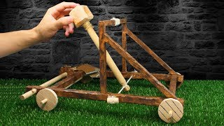 How To Make a CATAPULT | Amazing Wooden Catapult
