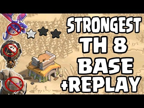 NEW TH8 WAR BASE 2018 Anti 2 STAR | Town Hall 8 (TH8) WAR BASE WITH REPLAY | CLASH OF CLANS
