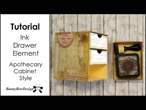 DIY Ink Pad Drawer Element Tutorial - Apothecary Cabinet Style - Storage and Craft Room Organisation