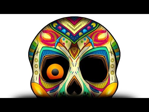 Day of the Dead Skull (Casual Guy Gamer Channel Art)