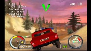Test Drive Off Road Wide Open (PS2) Gameplay 1 - Rod Hall Hummer H1