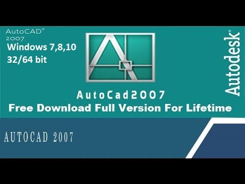 How To Install Autocad 2007 On Windows 7 8 10 32 64 Bit Youtube