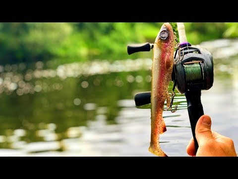 River Fishing With BIG Swimbaits! (and Catching BIG Fish!) UK Lure Fishing