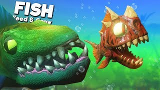 LIFE AS THE PREHISTORIC RAPTOR FISH IS HARD! | Feed and Grow Fish
