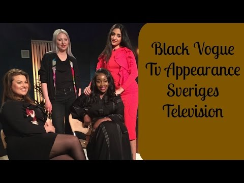 TV Appearance at Sveriges Television | Vlog | Black Vogue