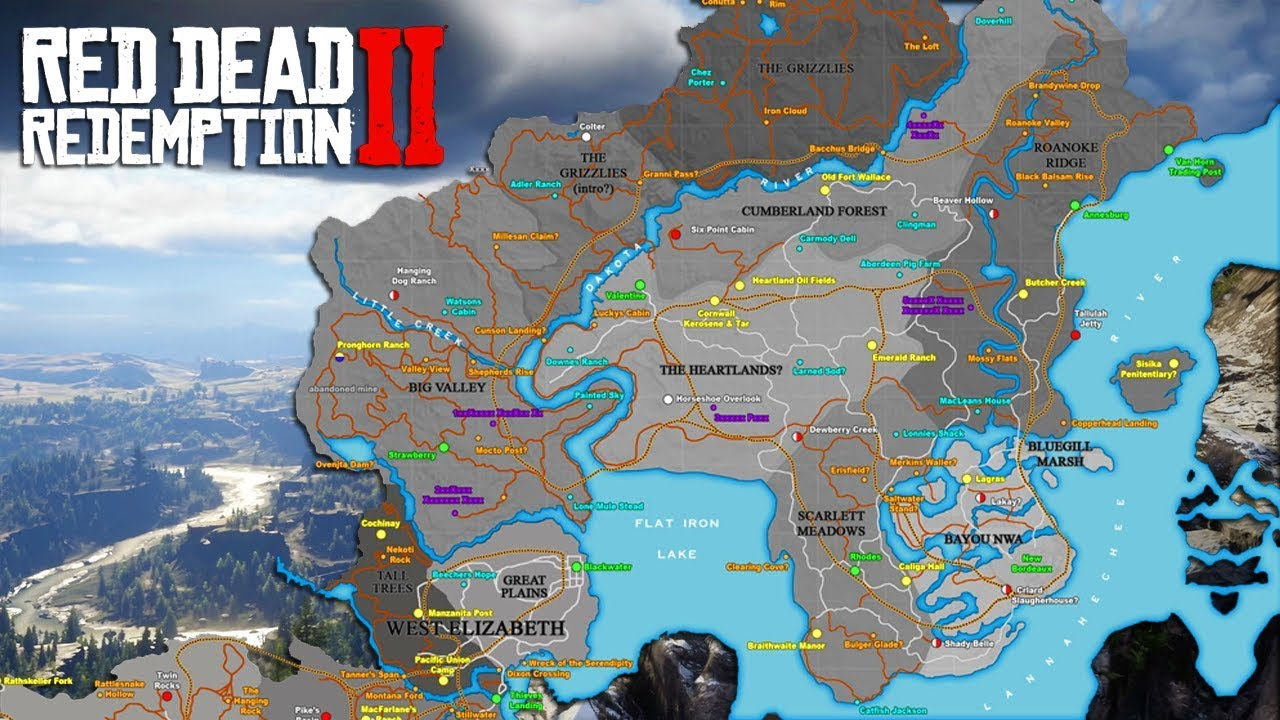red dead redemption 2 interactive map