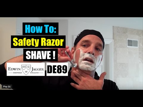 Edwin Jagger DE89 Safety Razor Review And Shave