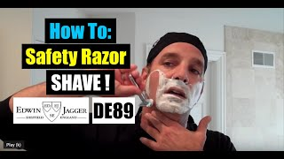 EDWIN JAGGER DE89: Do YOU Want The BEST & CLOSEST Shave Ever? Try Shaving With a SAFETY RAZOR!