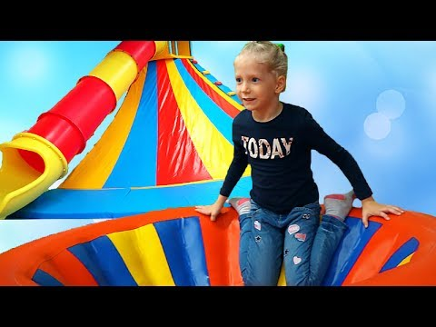 Bad littel Kids playground in real life Family fun cool baby slide and indoor playground for kid
