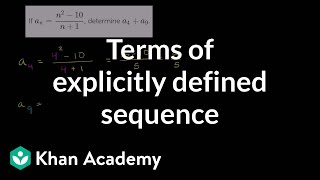 Worked example: sequence explicit formula | Series | AP Calculus BC | Khan Academy