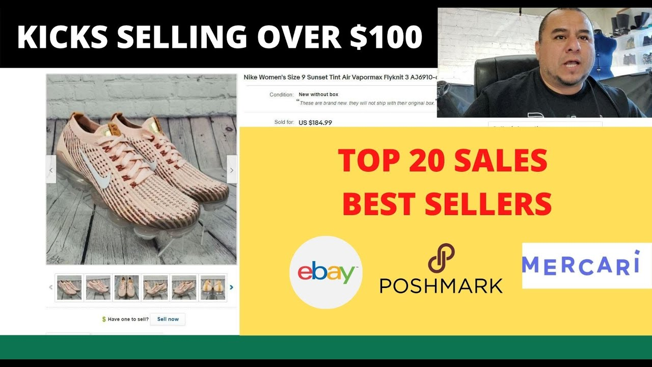 What Sold On Ebay Poshmark And Mercari July 2020 Shoes Selling Over 100 Youtube