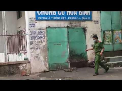 Phong toả chung cư Hoà Bình – quận 10 TP HCM để ngăn dịch