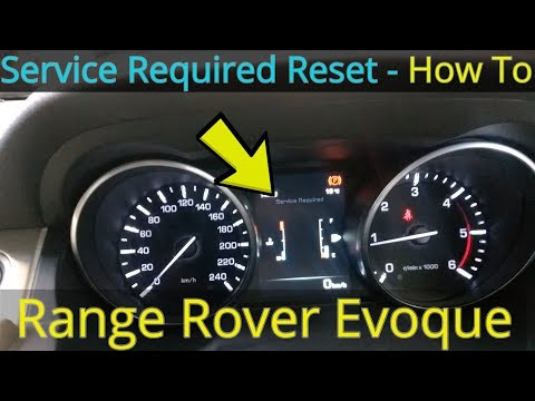 Service Required Warning Reset - Range Rover Evoque