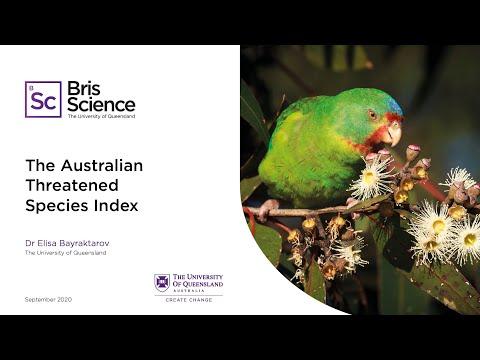BrisScience (September): The Australian Threatened Species Index