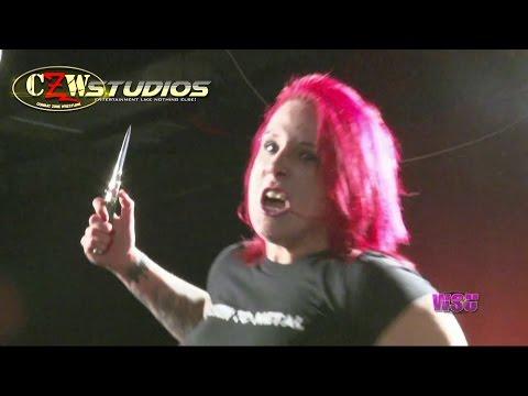 LuFisto tries to murder DJ Hyde | CZWstudios.com | Intergender Wrestling