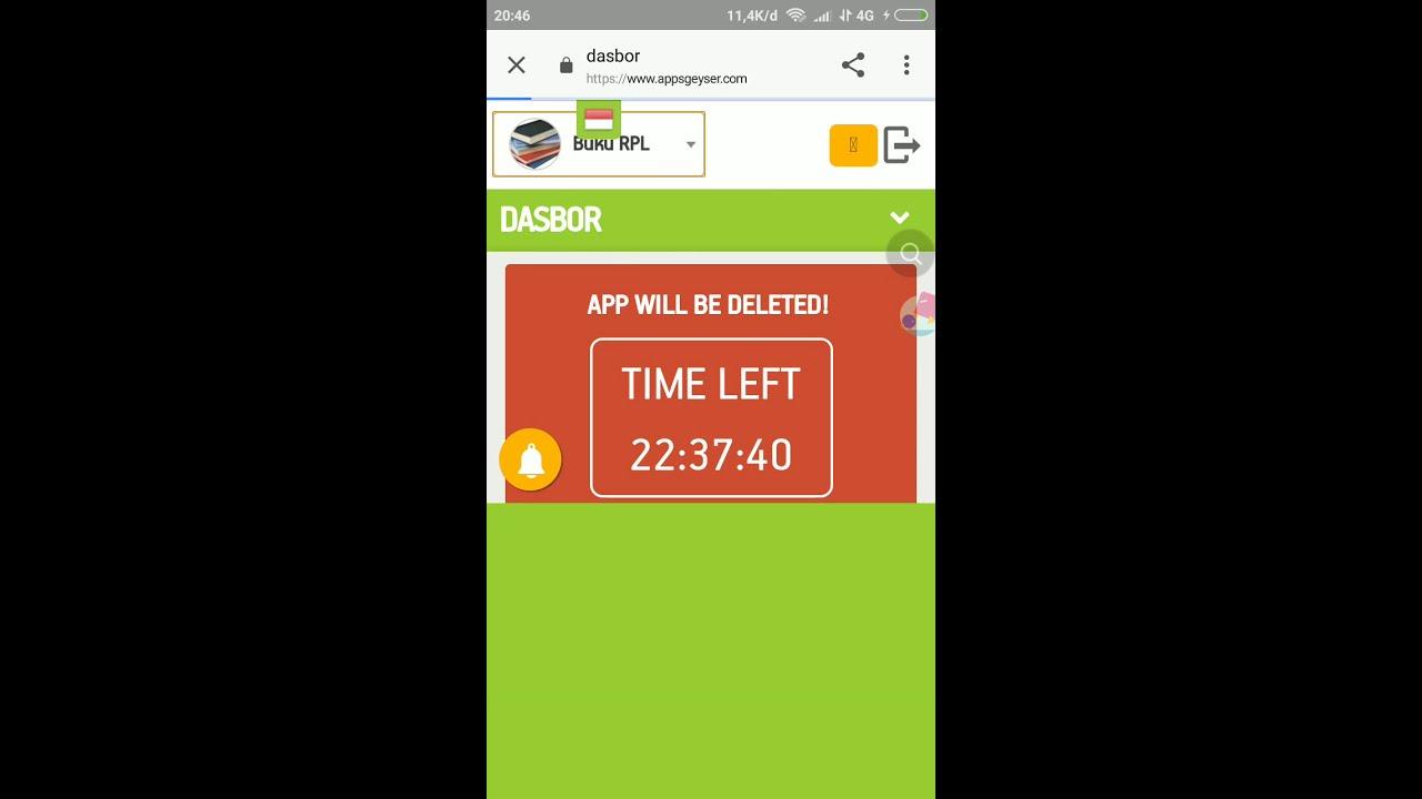 Cara mengunduh aplikasi yang sudah kita buat di appsgeyser ...